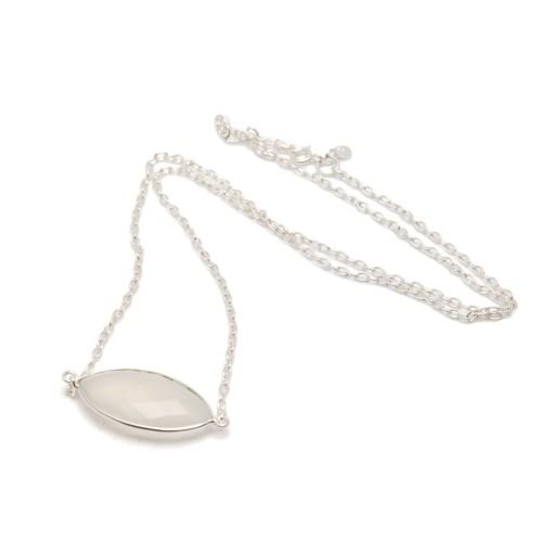 Halsband Bella Silver Blanc liggande