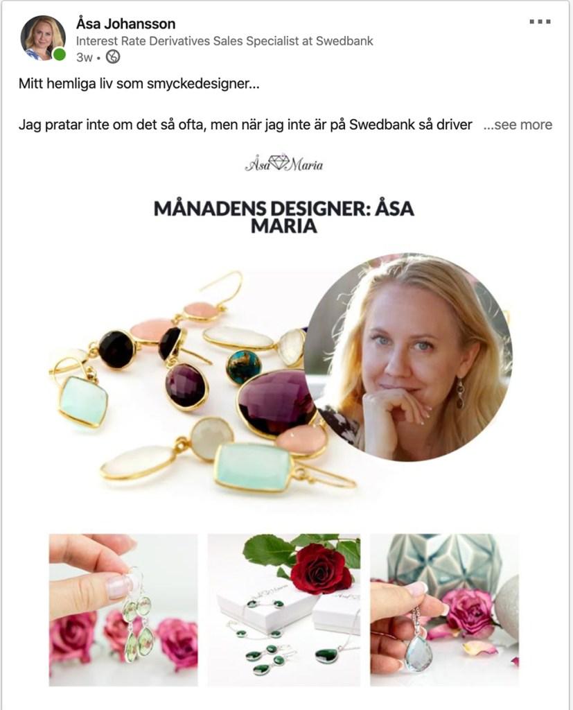 Smyckedesigner på LinkedIn