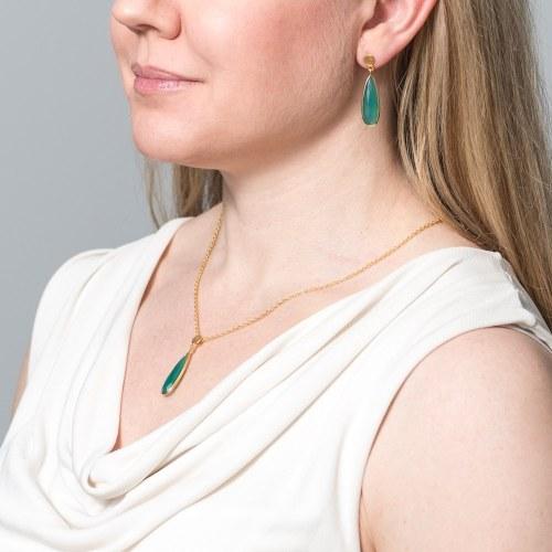 Örhängen Anja Halsband Sonja Golden Green