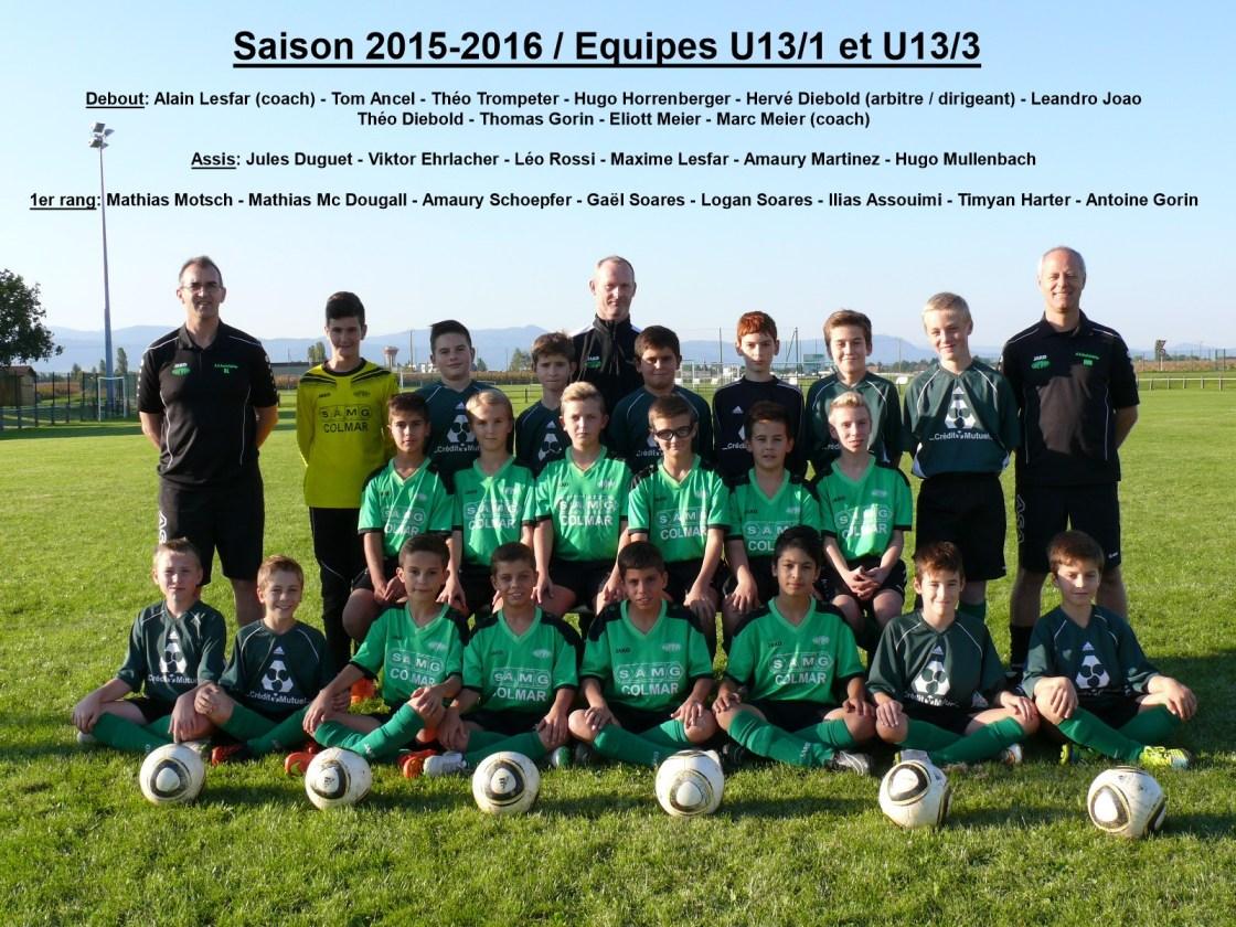 U13 1 saison 2015