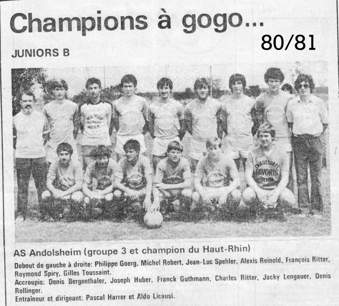 As Andolsheim Junior 1980:1981