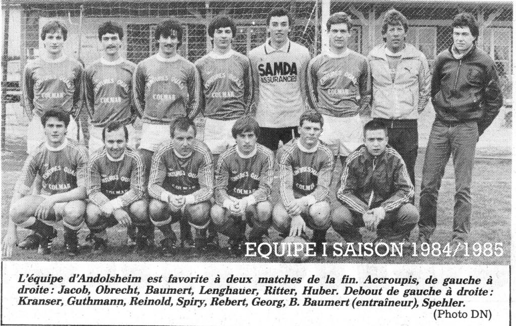 As Andolsheim Séniors 1 1984:1985