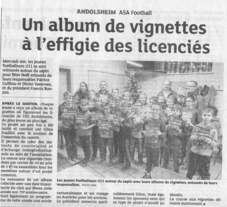 article DNA AS Andolsheim Album du club