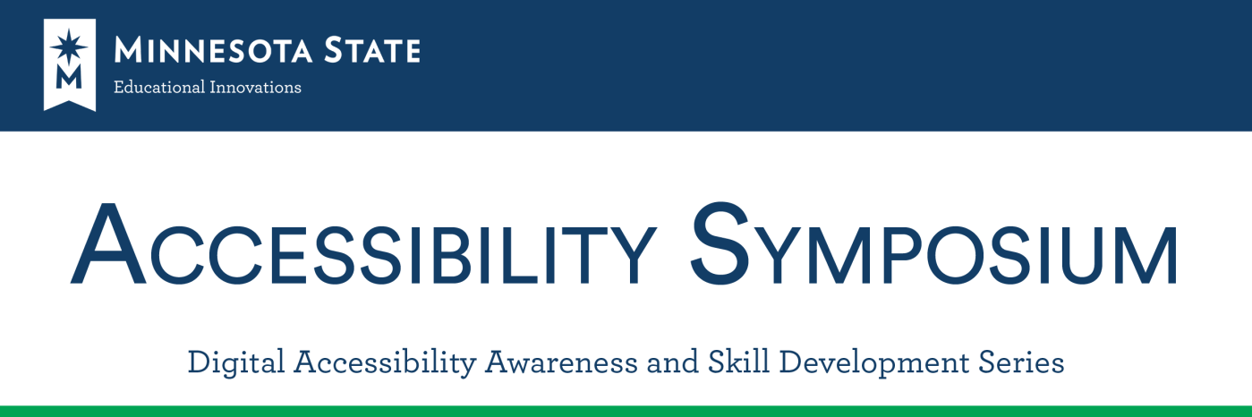Accessibility Symposium Banner