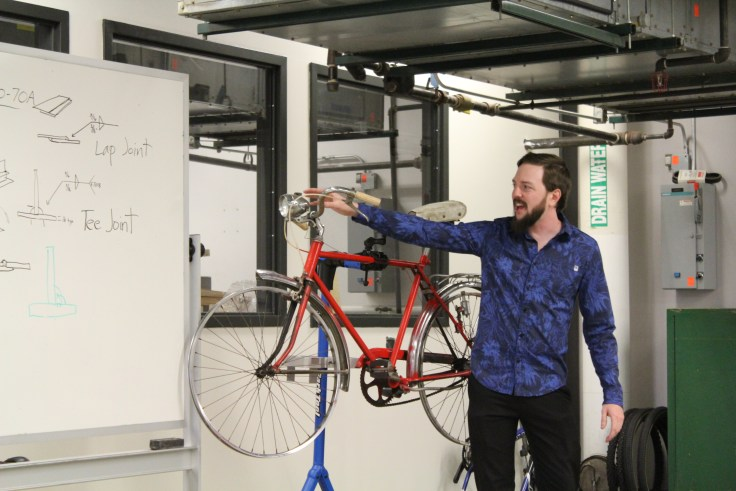 Bicycle Design and Fabrication Program instructor Chase Spaulding