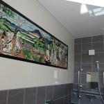 浴室の壁全体に設置