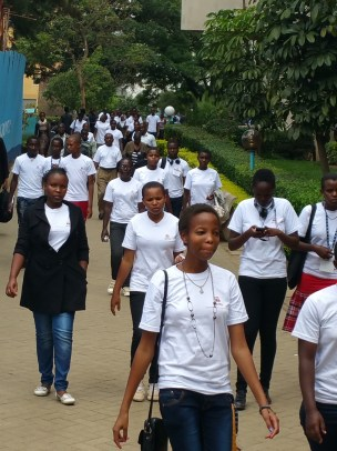 Life transformers hosted 120 students and 20 teachers of Asante Africa foundation and took the for a UoN tour!