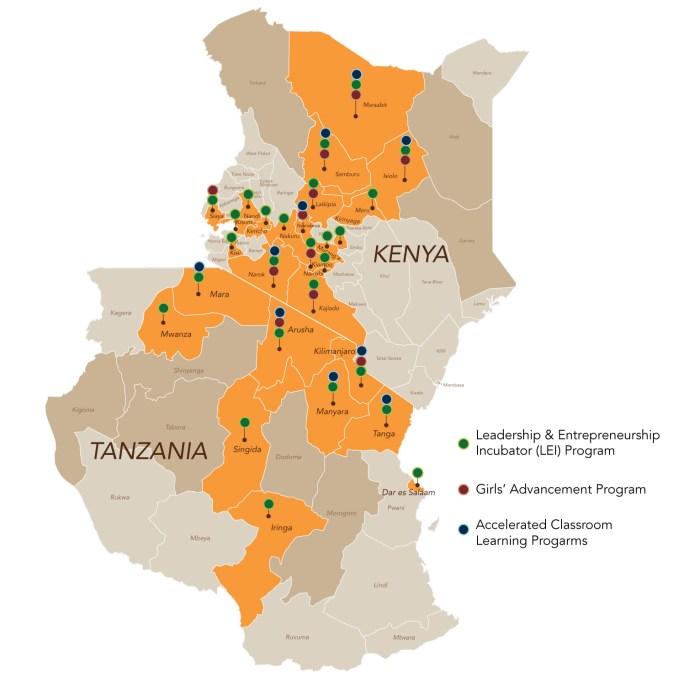 Asante Africa regions