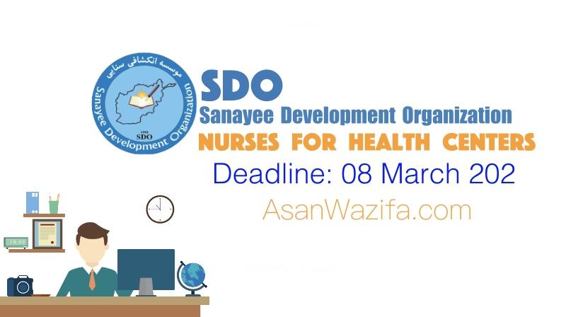 Job at Sanayee Development Organization ( Nurses for health centers )