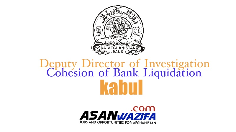 Deputy Director of Investigation and Cohesion of Bank Liquidation ( Da Afghanistan Bank )
