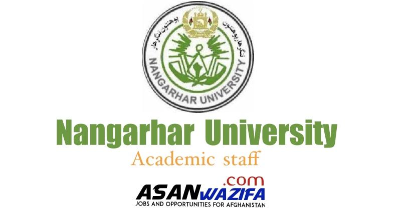 "Job at Nangarhar University ""Academic staff"