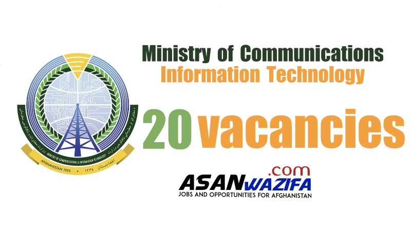 20 jobs in Kabul ( Ministry of Communications and Information Technology ) Kabul