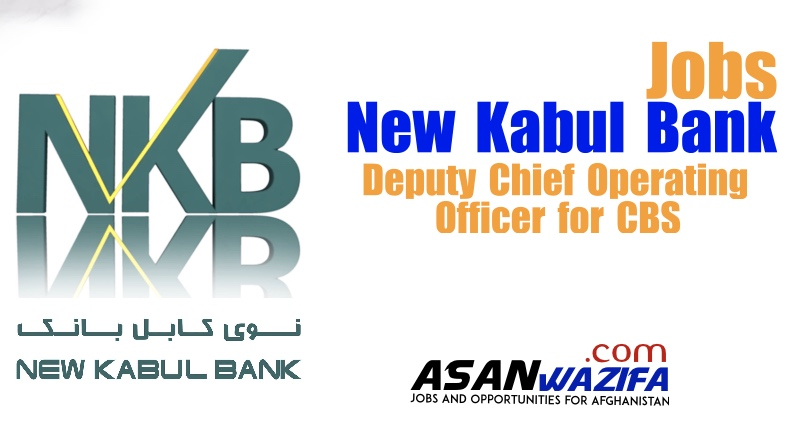 Job in New Kabul Bank ( Deputy Chief Operating Officer for CBS )