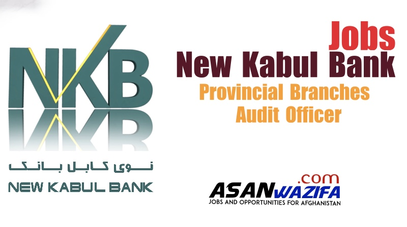 Jobs in New Kabul Bank ( Provincial Branches Audit Officer ) Kabul