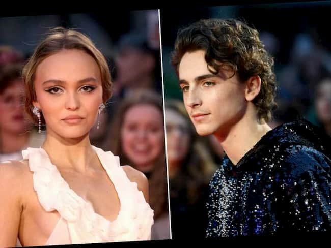 Timothée Chalamet and Lily-Rose