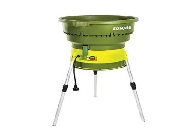 Sun Joe SDJ616 13-Amp 16-1 Reduction Electric Leaf Mulcher,Shredder, Green