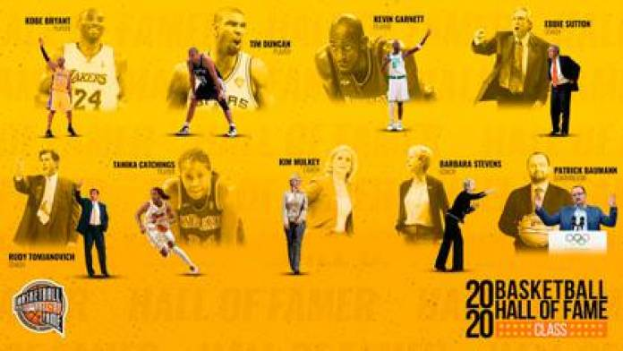 The class to be inducted into the Hall of Fame in 2020 (@hoophall)