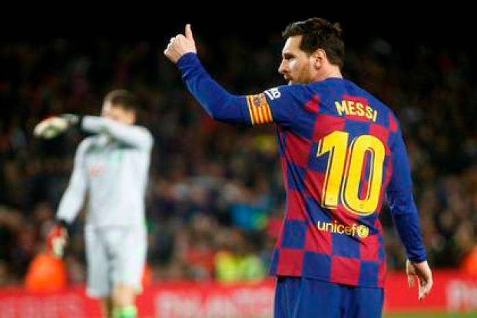 Lionel Messi and Barcelona will return to activity against Mallorca on Saturday June 13 EFE photo