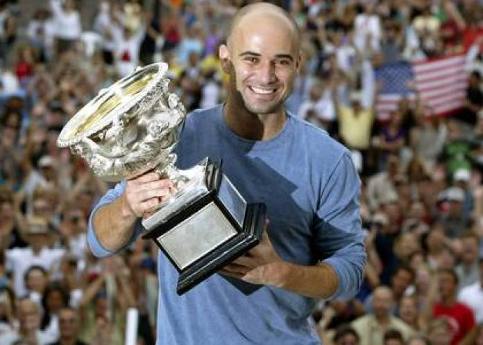 Andre Agassi, after succeeding in Australia in 2003. His dictatorial father used all kinds