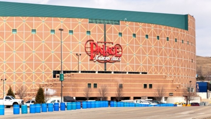 The Palace of Auburn Hills, the former Detroit Pistons court. It was in that parking lot that Rodman thought about killing himself