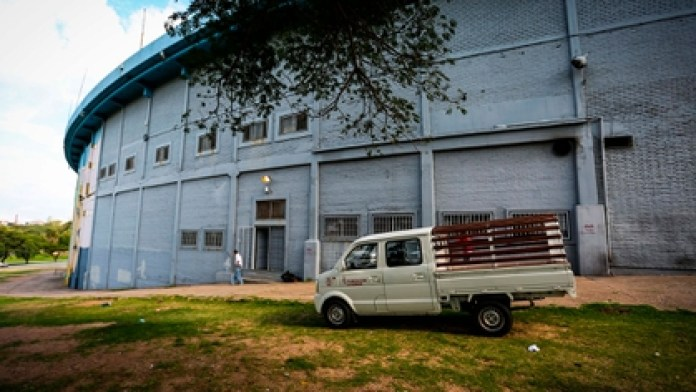 The Centennial Stadium in Uruguay became a shelter for patients at risk from the coronavirus (EFE)