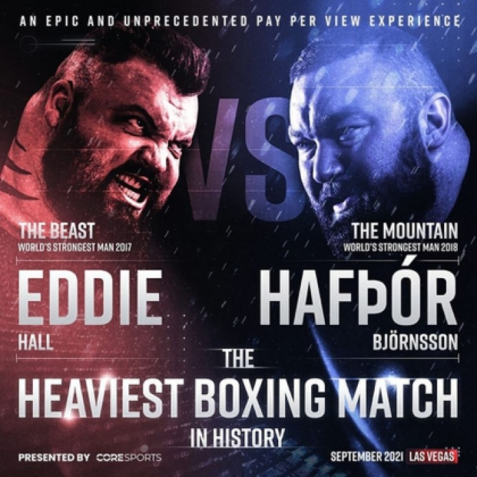 The Beast vs. The Mountain will take place in 2021 in Las Vegas (@thorbjornsson)