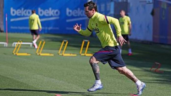 Messi prepares for the return of football after almost three months of suspension of activity (AFP)