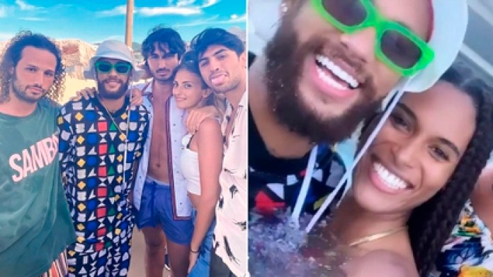 Neymar and Marco Verratti traveled to Saint Tropez before resuming training with Paris Saint Germain for the Champions League.