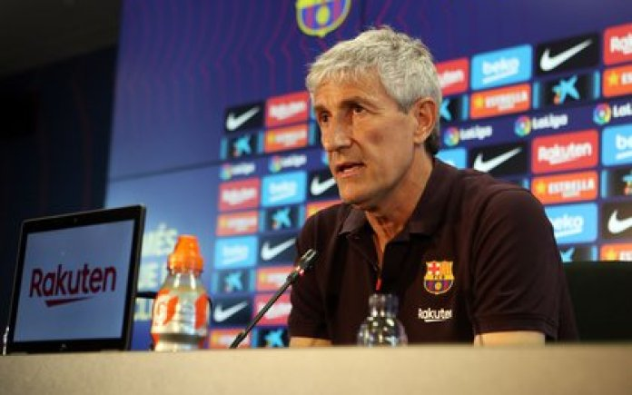 Setién will have several casualties for the duel against Napoli for the Champions League (Miguel Ruiz / FCB)