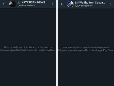 Telegram Banned Channels