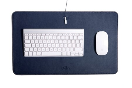 Leather Desk Mat Mf Navy 1