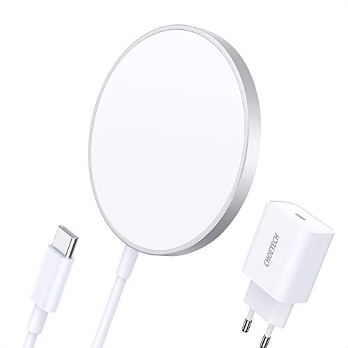 CHOETECH Magnetic Wireless Charger, Wireless Charger Compatible with Mag-Safe Charger, with PD 20W Quick Charger USB C + 1.5M Cable for iPhone 12/12 Mini / 12 Pro / 12 Pro MAX / Airpods Pro and More