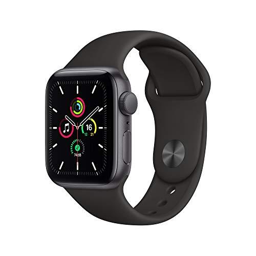 Apple Watch SE (GPS, 40mm) Space Gray Aluminum Case - Black Sport Band