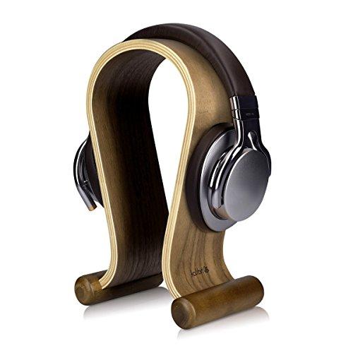 kalibri Wooden Headphone Holder - Universal Base for Non-Slip Helmets - Headset Holder in Walnut Wood design