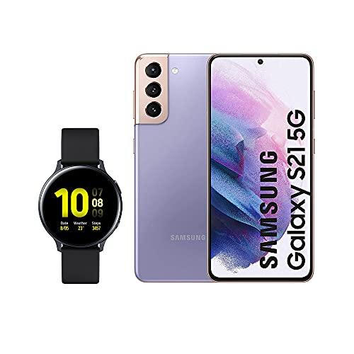 SAMSUNG Smartphone S21 5G 128 GB Violeta con Watch Active 2
