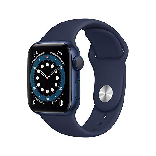 Apple Watch Series 6 (GPS, 40mm) Blue Aluminum Case - Vivid Navy Sport Band