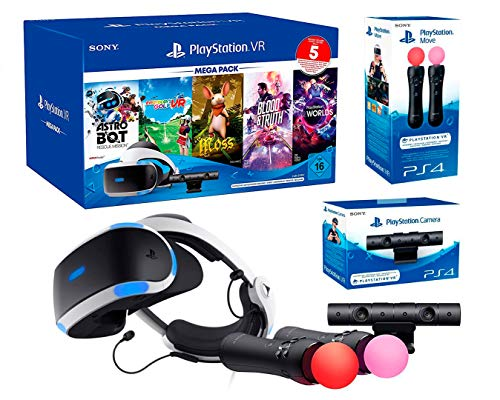 PlayStation VR2 MegaPack 2 Astro Bot + Skyrim V + Resident Evil 7 + Everybody's Golf + VR Worlds + Cámara V2 + Pack 2 Mandos Move Twin