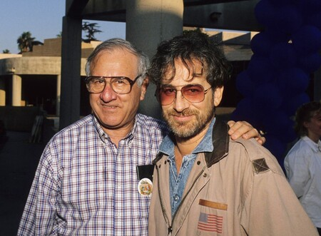 Arnold Spielberg with his son