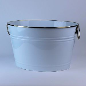 White Beverage Tub Beverage Bucket