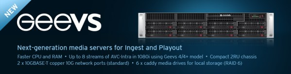 EditShare Geevs Broadcast Servers