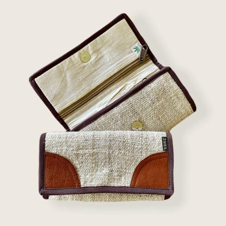 Women's Hemp Wallet - Golden Brown