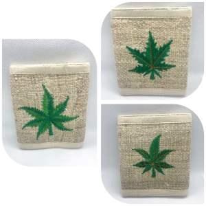 Handmade Hemp Leaf Hemp Wallet