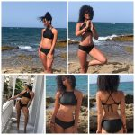 Asatre Black Hemp Blend Triangle Bikini
