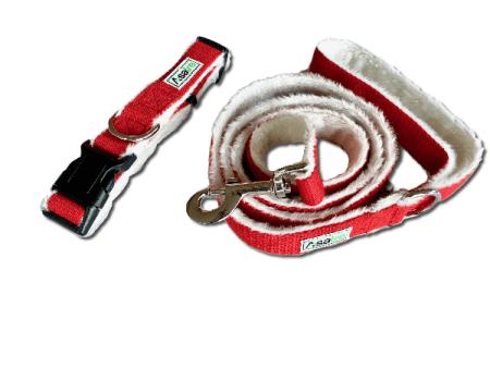 Hemp Dog Collar Leash Set