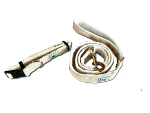 Asatre Hemp Dog Collar Leash Set