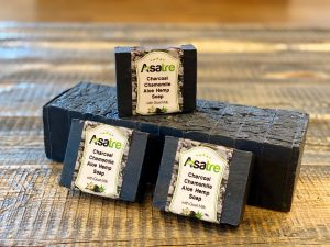 Charcoal Aloe Hemp Goat Milk Soap