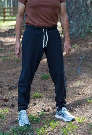 Men's Black Hemp Joggers
