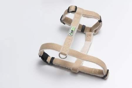 Hemp Dog Harness Beige