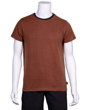 Hemp Ringer Brown Shirt