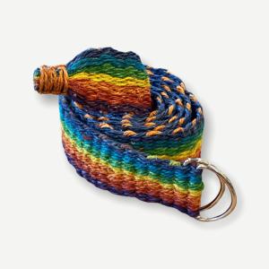 Eco-friendly Hemp Rainbow Woven Belt